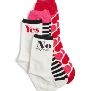 Kate Spade NY Playful Love Themed Crew Socks